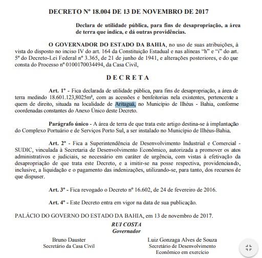 ILHÉUS: E lá vem os trilhos do desenvolvimento, Governo da Bahia manda desapropriar determinada área de Aritaguá 2