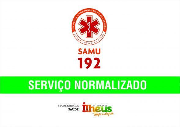 ILHÉUS: Serviço do SAMU 192 já foi restabelecido 7