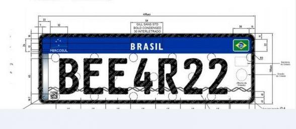 Brasil vai mudar placa de carros para usar padrão do Mercosul 2