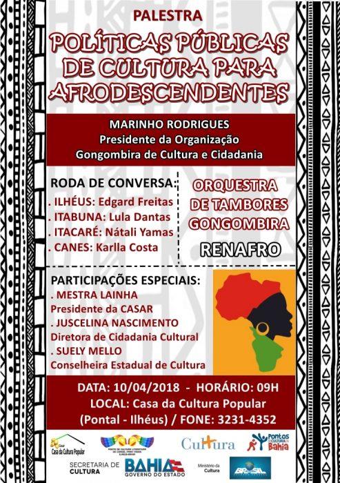 CASAR CONVIDA: PALESTRA ''POLÍTICAS PÚBLICAS DE CULTURA PARA AFRODESCENDENTES'' 1