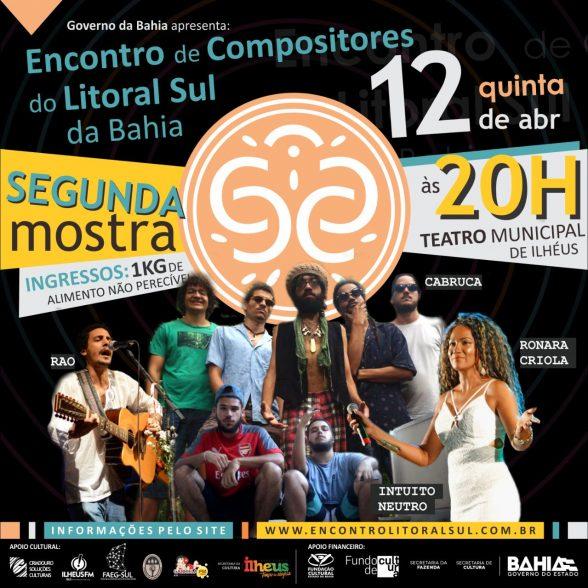 Ronara Criola, Intuito Neutro, Rao e Cabruca se apresentam no Encontro de Compositores, nesta quinta (12) 3