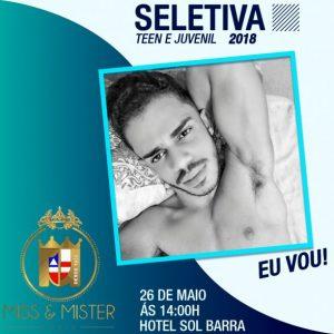 Jovem representará Itabuna na seletiva do mister Bahia 5