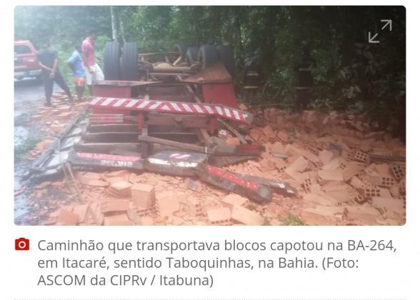 ITACARÉ: Acidente com caminhão deixa um morto e outro ferido 1