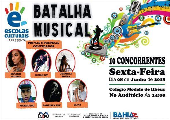 PROJETO ESCOLAS CULTURAIS REALIZA 4ª EDIÇÃO DO BATALHA MUSICAL NESTA SEXTA EM ILHÉUS 1