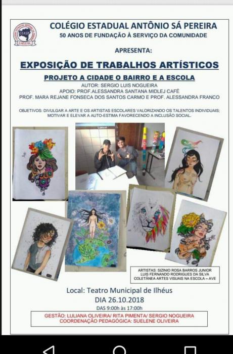 ILHÉUS: Alunos artistas do Colégio Estadual Antônio Sá Pereira expõe obras de artes na TMI 1