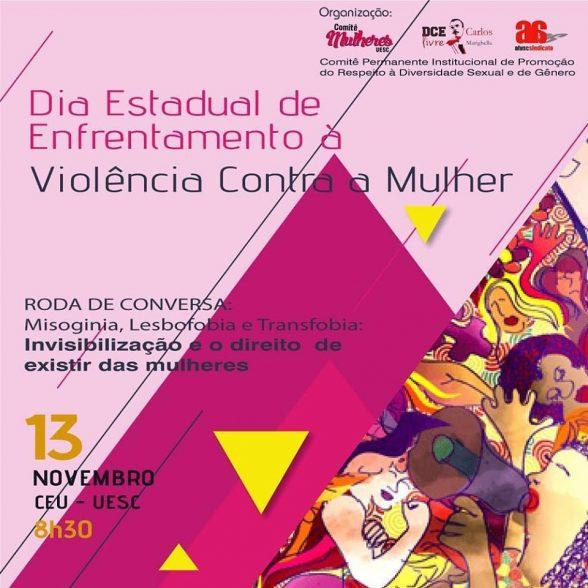 Dia Estadual de Enfrentamento à violência contra a mulher será comemorado na UESC 1