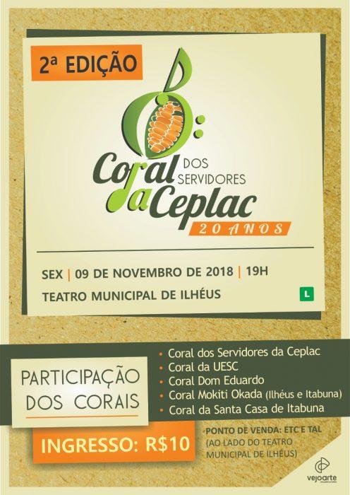 Coral da Ceplac realiza novo show em comemoração aos 20 anos,  dia 09, no Teatro Municipal de Ilhéus 2