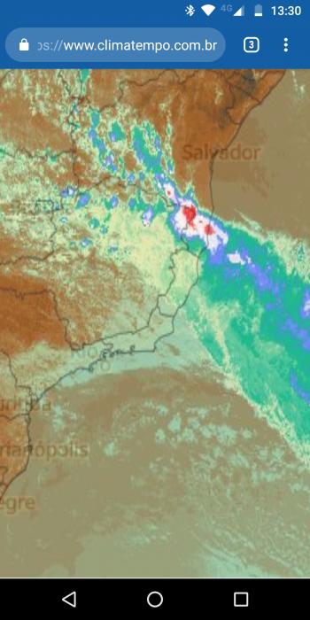Domingo será de muita chuva em Ilhéus, alerta o Clima Tempo 3