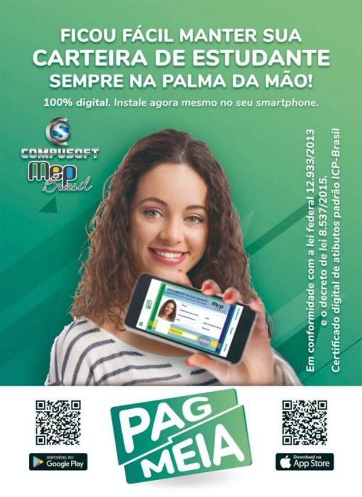A @mepbrasil disponibiliza Carteira Estudantil que garante o direito a meia entrada em todo Brasil 1
