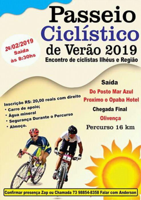 Vem aí Passeio Ciclístico de Verão 2019 Ilhéus e Região 5