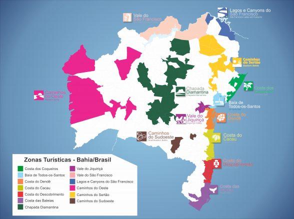Bahia no Mapa Turístico