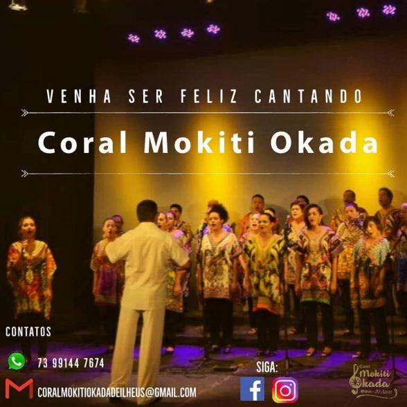 Coral Mokiti Okada de Ilhéus realiza audição para novos cantores dia 12 2