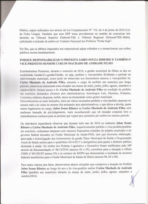PSOL DE ILHÉUS, PEDE PUNIÇÃO PARA JABES E CACÁ, PELAS IRREGULARIDADES APONTADAS PELO TRIBUNAL DE CONTAS DOS MUNICÍPIOS - TCM, NAS CONTAS DA PREFEITURA EM 2016 5