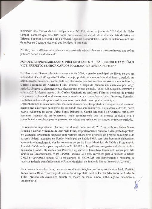 PSOL DE ILHÉUS, PEDE PUNIÇÃO PARA JABES E CACÁ, PELAS IRREGULARIDADES APONTADAS PELO TRIBUNAL DE CONTAS DOS MUNICÍPIOS - TCM, NAS CONTAS DA PREFEITURA EM 2016 3