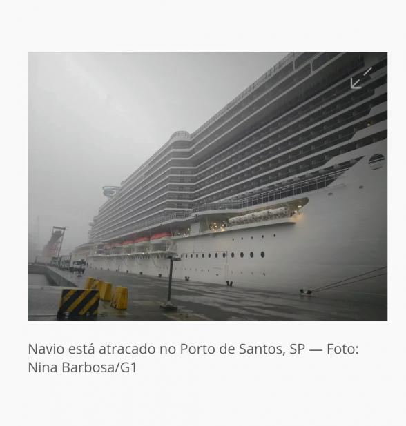 Navio que atracou em Ilhéus tem tripulantes investigados por suspeita de rubéola em Santos-SP 1