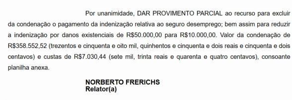 São Miguel é condenada a pagar mais de 300 mil reais a trabalhador 2