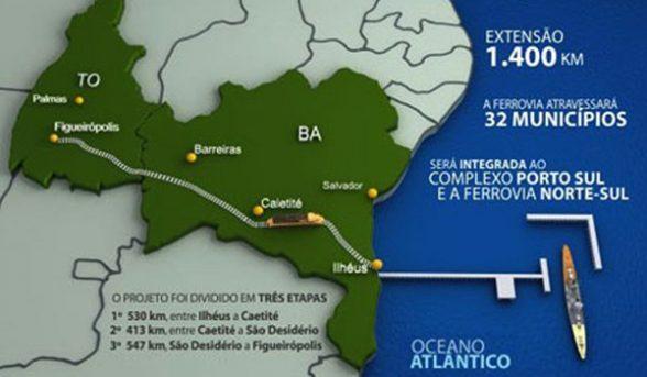 Licitação da Fiol fica para 2020. Até lá, a BAMIN toca o Porto Sul 1