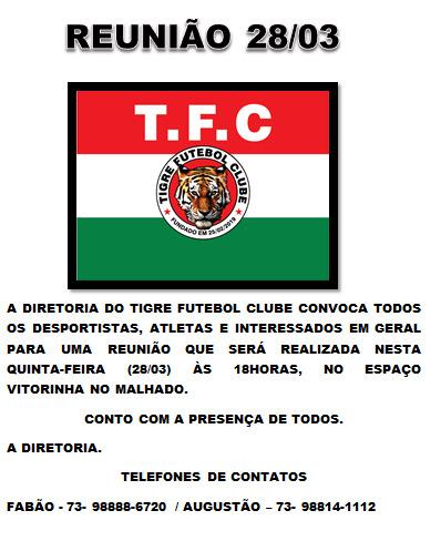Convite do Tigre Futebol Clube 2