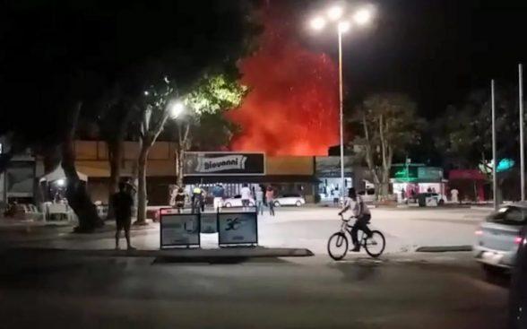 Incêndio em vegetação no centro de Eunápolis assusta moradores e comerciantes 1