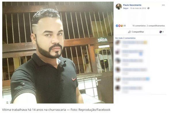 Garçom é morto a tiros enquanto trabalhava em churrascaria de Eunápolis 1