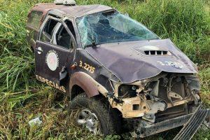 Acidente com viatura da Rondesp Sul deixa policiais feridos 1
