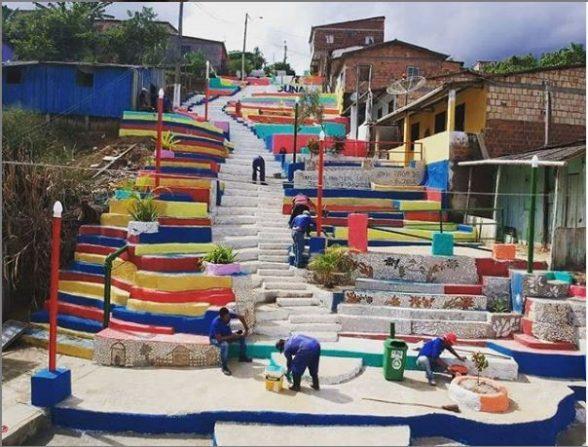 UNA: Inauguração de escadaria que une sustentabilidade e arte 1