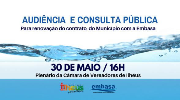 Prefeitura de Ilhéus realiza audiência e consulta pública para renovação do contrato com a Embasa 1