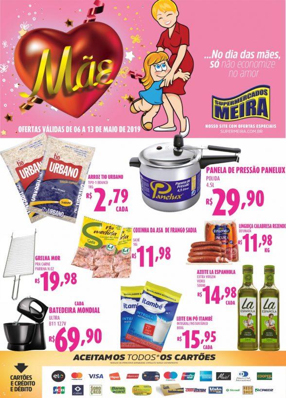 Publicidade do Supermercados Meira 2