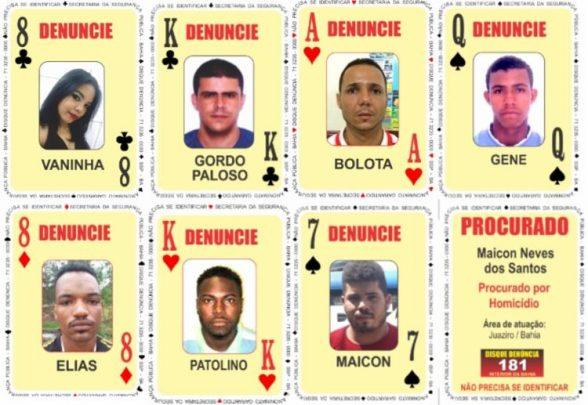 Sete pessoas são adicionadas ao baralho do crime da SSP 1