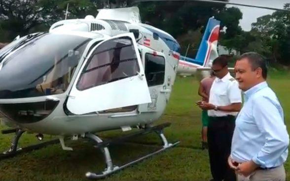 Helicóptero que levava governador Rui Costa faz pouso de segurança 3