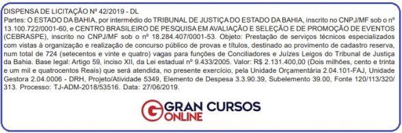Concurso TJ BA Juiz leigo e Conciliador: ofertará 724 vagas para cadastro de reserva 1