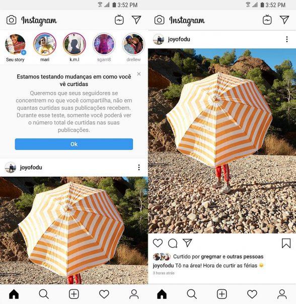 Instagram começa a ocultar número de curtidas no Brasil 1