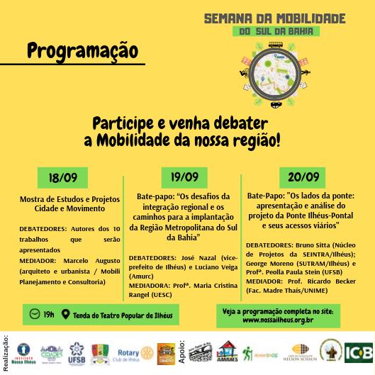Programação discutirá região metropolitana do sul da Bahia e acessos da nova ponte de Ilhéus 2