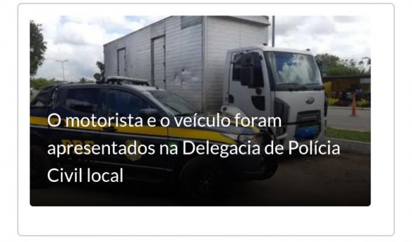 Caminhão roubado no Espírito Santo em 2015 é recuperado em Itabuna 1