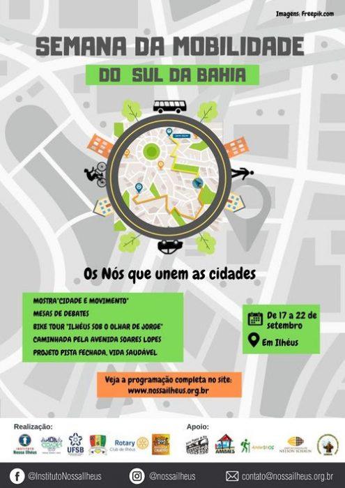 MobCidades realiza de 17 a 22 de setembro a Semana da Mobilidade do Sul da Bahia 1