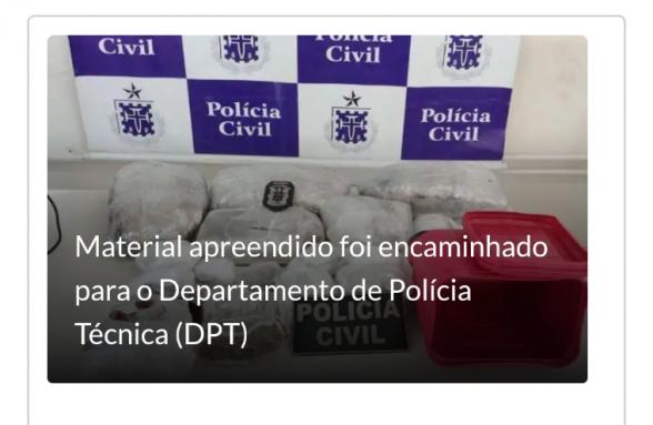 Suspeito de tráfico é preso com mais de seis quilos de maconha em Porto Seguro 1