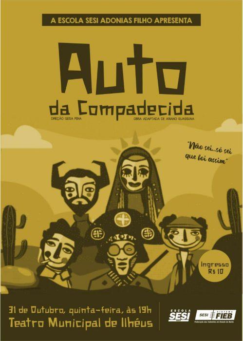 Escola Sesi Adonias Filho promoverá a peça teatral Auto da Compadecida no Teatro Municipal de Ilhéus 4