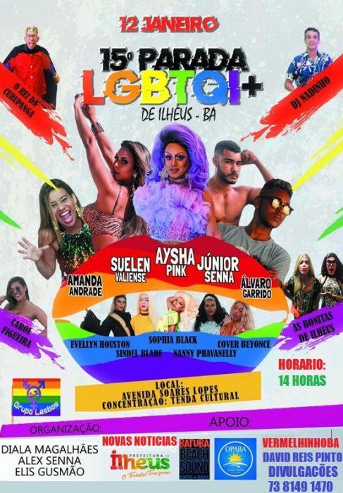 Acontece neste domingo (12), a 15ª Parada LGBTQI+ de Ilhéus; A primeira parada do ano no Brasil 5
