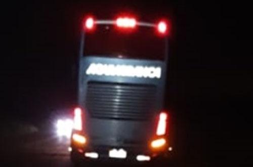 Andarilho morre atropelado por ônibus da Águia Branca que fazia a linha Ilhéus-Vitória 1