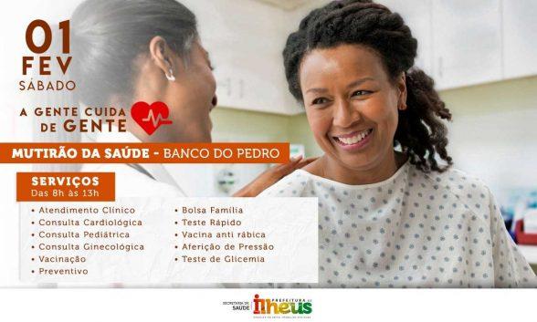 Moradores do Banco do Pedro recebem mutirão de saúde neste sábado (1º) 5