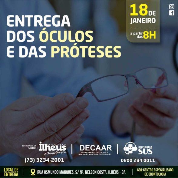 ILHÉUS: Óculos e próteses serão entregues a pacientes contemplados na Feira Cidadã 3