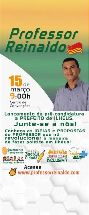 PTB lança a pré-candidatura do Professor Reinaldo Soares para prefeito de Ilhéus neste domingo (15) 5