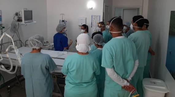 Funcionários da unidade Covid-19 do Hospital Regional Costa do Cacau são treinados e agradecem investimentos 2