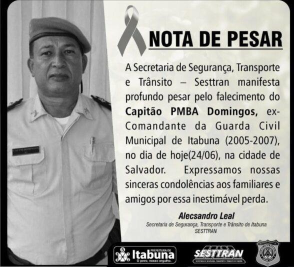 Ex-comandante da Guarda Civil de Itabuna morre de Covid-19 em hospital de Salvador 1